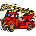 Сoloring pages. Transport - Fire trucks
