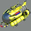 Сoloring pages. Transport - Underwater vehicles